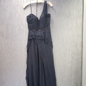 Rickie Freeman Teri Jon One shoulder black dress